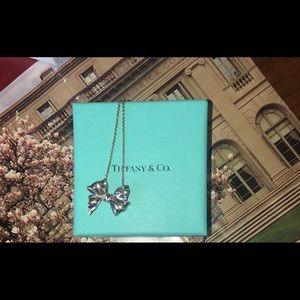 Tiffany & Co Authentic Vintage Ribbon/Box Necklace